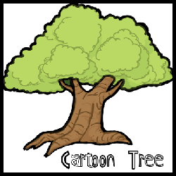 How to Draw Cartoon Trees with Easy Step by Step Drawing Tutorial